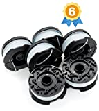 Garden Ninja Replacement Trimmer Spool for BLACK+DECKER AF-100, 6-Pack