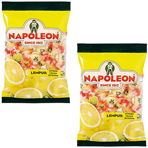 - Napoleon Lemon Balls (Lempur) Sours Candy - (2-Packs) - Dutch Holland Imported Hard Candy, 5.2 oz. Per Bag
