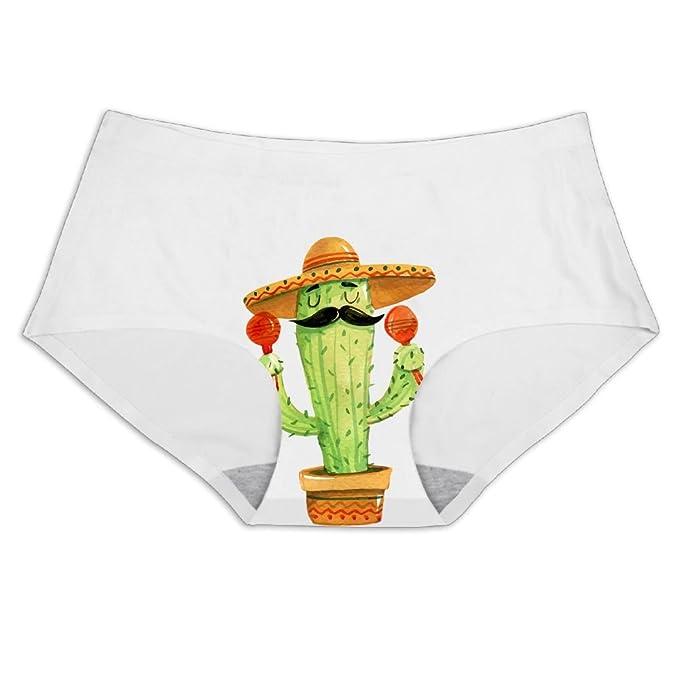 07e8b8584f58 DIMANNU Women's Panties Seamless Ice Silk Cactus Beard Underwear No Panty  Line Briefs Hipsters