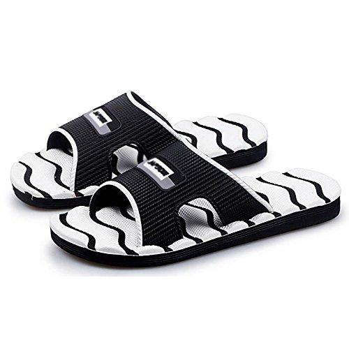 XIAOLIN Zapatillas de interior de la zapatilla Sandalias y zapatillas de playa masculinas de verano Zapatillas de baño coreanas de la marea antideslizante antideslizante ( Color : 04 , Tamaño : EU39/U 01