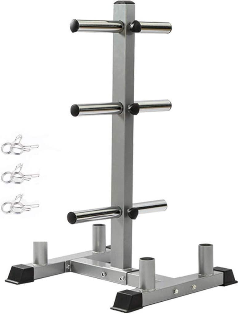 Weight Plates Rack Storage holder weight Tree Fitness Workout Olympic Gym