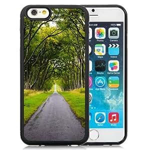 NEW Unique Custom Designed iPhone 6 4.7 Inch TPU Phone Case With Scotland Forest Road_Black Phone Case wangjiang maoyi