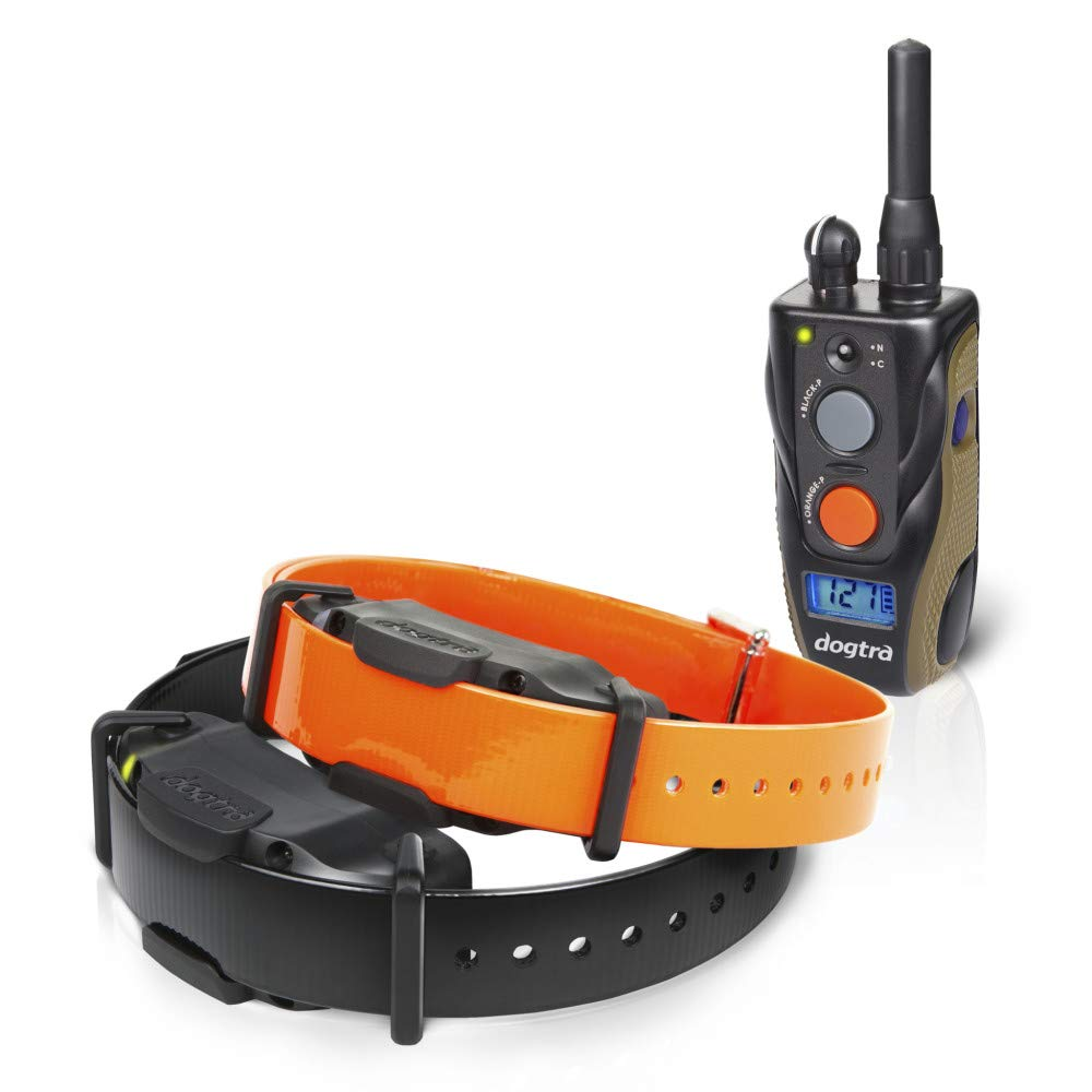 Dogtra 1902S - Ergonomic 3/4-Mile IPX9K Waterproof High-Output 2-Dog Remote Dog Training E-Collar by Dogtra