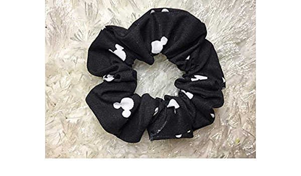 Mickey Mouse and red and white scrunchie set