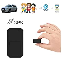 Mini GPS Tracker,Hangang GPS Tracker Anti-thief GPS Tracking Device SMS Locator Global Real Time tracking for Car/Vehicle/Motorcycle/Bycicle/kids/wallet/documents/bags with app for iOS and Android