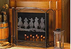 VERDUGO GIFT CO Cowboy Round-Up Fireplace Screen by VERDUGO GIFT CO