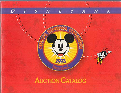 Official Disneyana Convention Auction Catalog Disneyland 1993