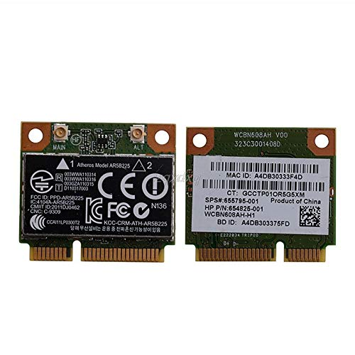 Bluetooth Wireless Mini PCIE Card 802.11bgn 655795-001 654825-001 AR5B225 for HP Nov11