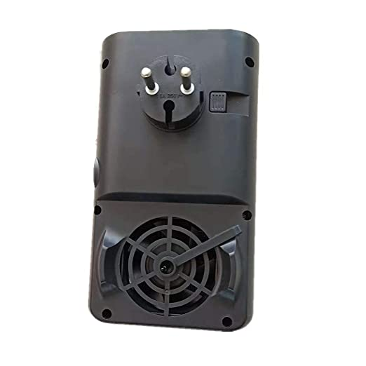 Nifogo Heater Mini Estufa Eléctrica Termoventilador Bajo Consumo, Temporizador de 12 Horas & Adaptador Giratorio Calefactor Electrico para Baño Casa Oficina ...