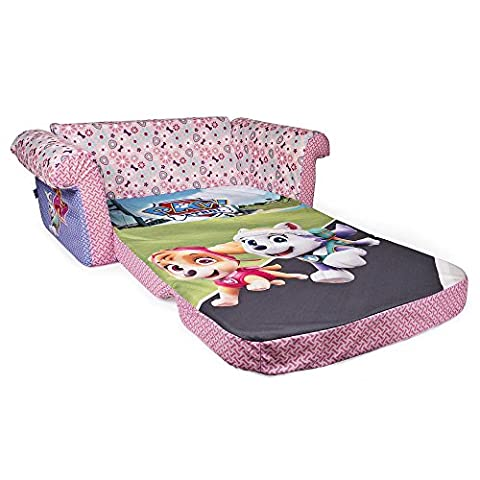 Nickelodeon Paw Patrol Marshmallow Furniture Children's Upholstered 2-in-1 Flip Open Sofa With 100% Polyester and 100% P U foam.