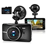Dash Cam 1080P Full HD 3 Inch Dashboard Camera Car Recorder with 32GB Card 170°Wide Angle Dashcam...