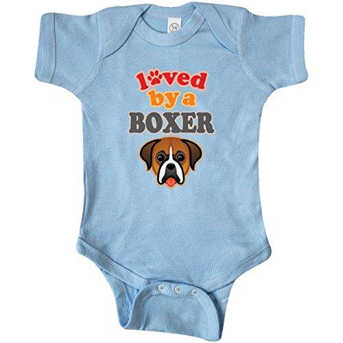 inktastic Boxer Dog Lover Pet Owner Infant Creeper 6 Months Baby Blue