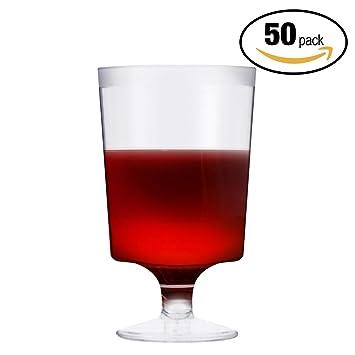 50 Copas Transparentes de Vino Desechables - Vaso Ideal para Fiestas ...
