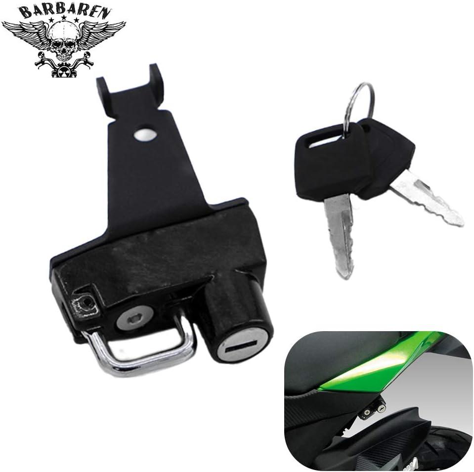 BarBaren Anti-Theft Helmet lock Motorcycle For Kawasaki Z125//Pro 2016-2020