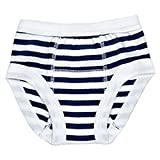 Egyptian Organic Cotton Print Training Pants, Navy Stripe, 2-4 Years