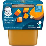 Gerber 2nd Foods Butternut Squash Pureed Baby Food, 4 Ounce Tubs, 2 Count (Pack of 8)