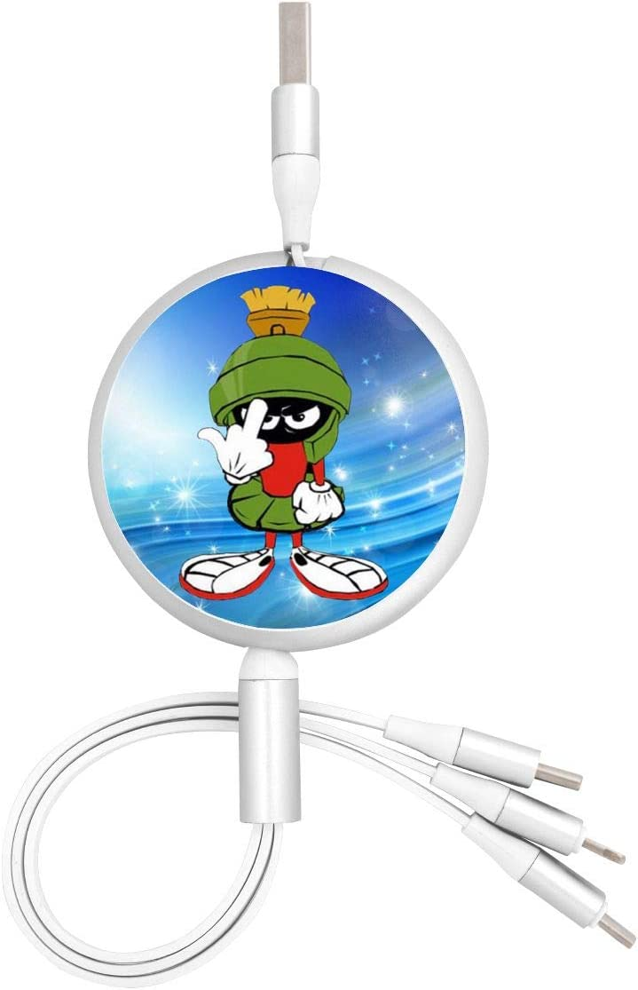 Fast Charging Data Sync Transfer Cord USB Charger Marvin-Martian Three-in-One Portable Charger