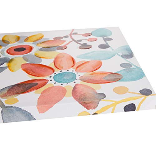 - Intelligent Design Sweet Florals Hand Embellished Floral Canvas Wall Art 20X20 2 Piece Multi Panel, Casual Painted Wall Décor