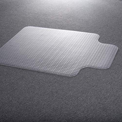 Thaisan7, Clear color PVC Home Office Chair Floor Mat Studded Back with Lip for Standard Pile Carpet,48