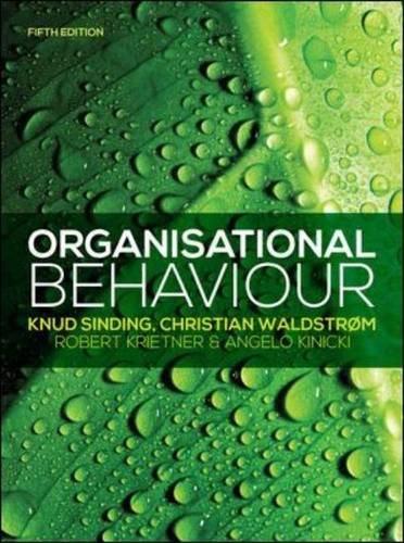 Organisational Behaviour (UK Higher Education Business Management)