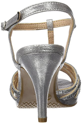 XTI 030614, Sandalias con Plataforma Para Mujer Plateado (Plata)