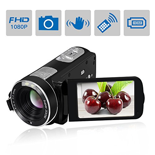 Camcorder Video Camera SEREE Full HD 1080P 24.0 MP Digital Camera 18× Digital Zoom Portable Video Recording