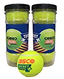 Cosco Cricket Plus Light Weight Cricket Ball Pack of 3 (Yellow)