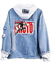 KIYOUMI My Hero Academia jeansjas, denim hoodie jas volwassenen cosplay jeans mantel