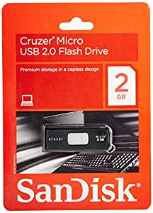 SanDisk 2 GB Cruzer Micro USB Flash Drive (SDCZ6-2048-A11)