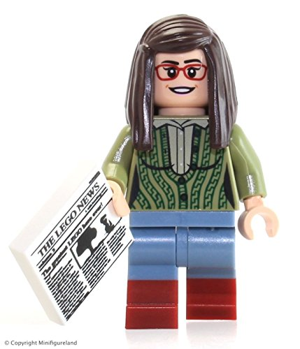 LEGO Ideas Big Bang Theory Minifigure - Amy Farrah Fowler w/ News Article (21302) -