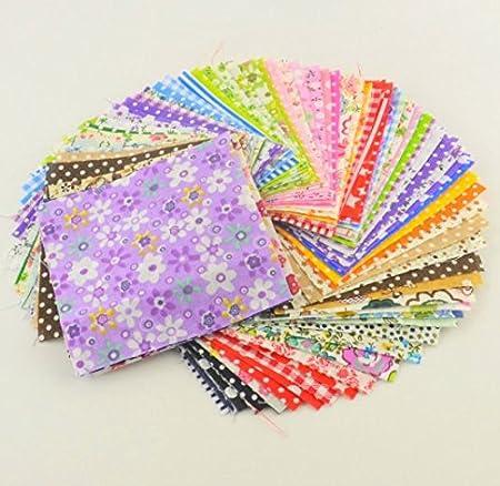 30 Telas manualidades colchas scrapbooking flores cojines toallas vestidos guirnaldas patchwork muñecos cortinas de 10 X 10 cm de OPEN BUY: Amazon.es: Hogar