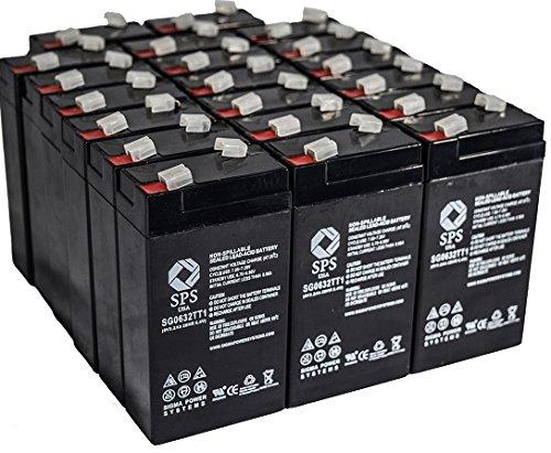 SPS Brand 6V 3.2 Ah Replacement battery for PACE 520 VITALMAX PULSE OXIMETER (24 PACK)