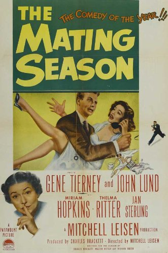 The Mating Season DVD 1951 NTSC R0 Thelma Ritter Gene Tierney John Lund (The Mating Season compare prices)