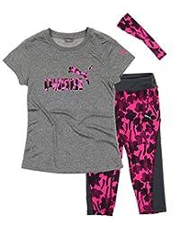 Puma Girls T-shirt, Capri Pant and Headband Matching Set