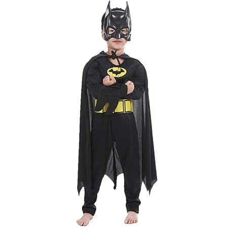 Disfraz De Batman Muscle Con Máscara Mono Disfraz De Carnaval Niño ...