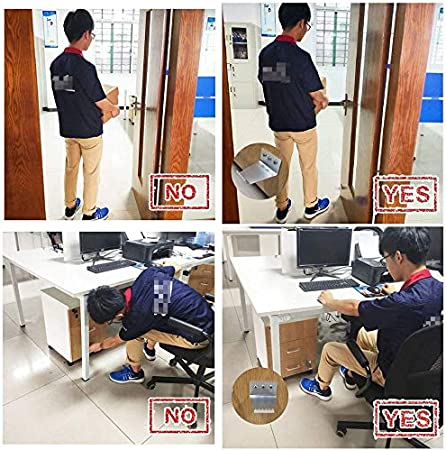 Silver Non-Contact Stainless Steel Pedal Door Handle for Home Office Business Bathroom YAMY 2 Pcs Sanitary Door Opener Hands Free Touchless Foot Pull Door Opener Bracket Easy to Install