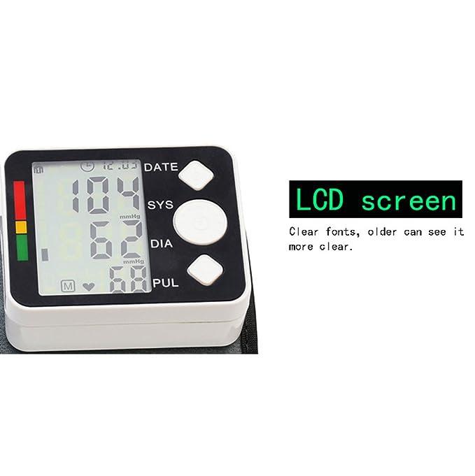 - Tensiómetro digital automático electrónico muñeca presión arterial y pulso Medidor de Ritmo de detector Who con arrhythmie de detección, ...