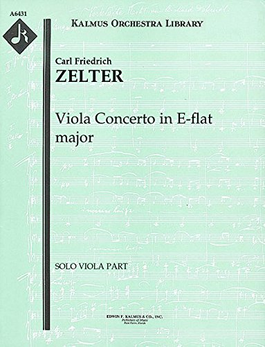 Viola Concerto in E-flat major: Solo viola part (Qty 2) [A6431]