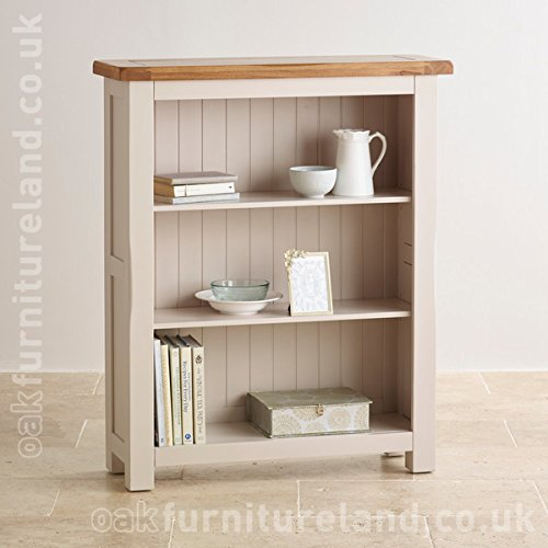Kemble Rustic Solid Oak And Painted Small Bookcase Amazoncouk Kitchen Home