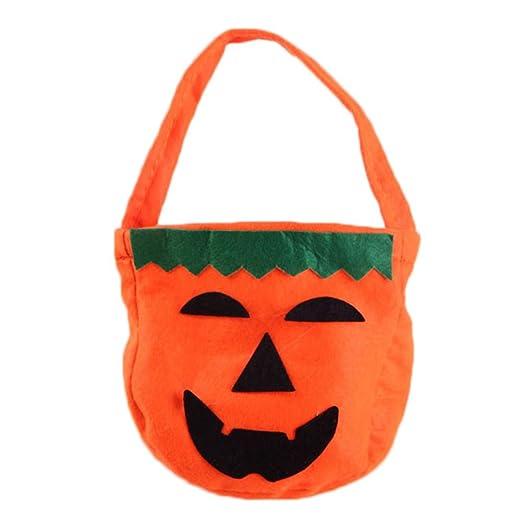 Vektenxi - Bolsa de calabaza de Halloween para niños, bolsa ...