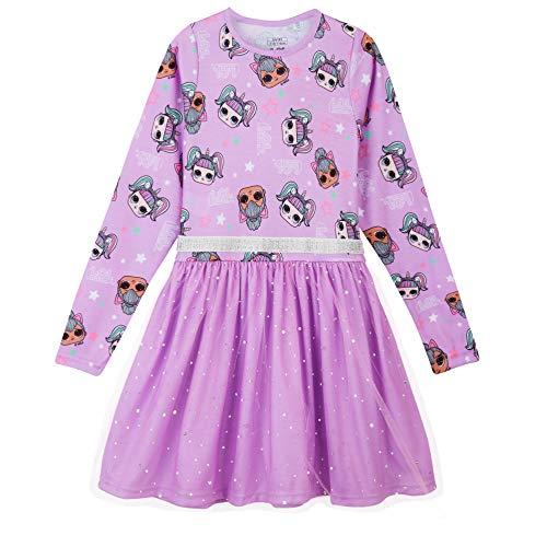 L O L Surprise! Vestido para Niñas, Falda de Tul Tutú de Ballet Brillante en 3D, Vestido de Manga Larga Princesa, Diseño…