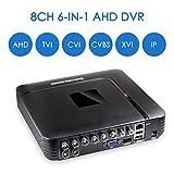 CCTV H.265 AHD DVR Surveillance Security Recorder DVR 8CH 4.0M AHD TVI CVI CVBS XVI IP 6 in1 Hybrid DVR Analog