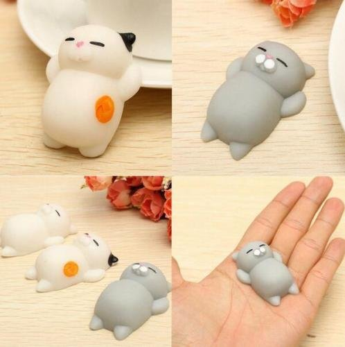 S&M TREADE-3pcs Soft Cat Squishy Healing Squeeze Fun Kid's Toys Gift Stress Reliever Decor Popular 1 viewed per hour