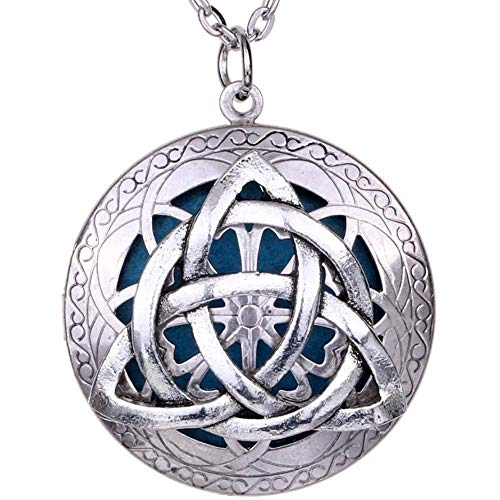 Soul Statement Diffuser Necklace: Essential Oil Necklaces for Women Aromatherapy Locket (Celtic Knot)
