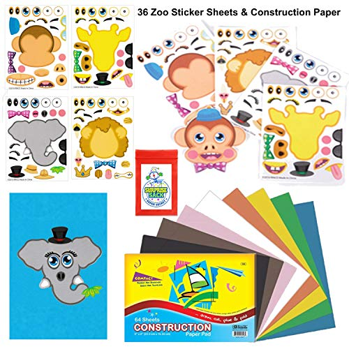 36 Zoo Make A Sticker Sheets With 6x9