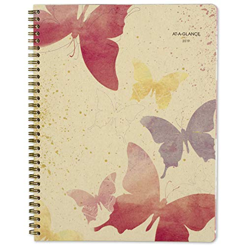AT-A-GLANCE 2019 Weekly & Monthly Planner, 8-1/2 x 11, Large, Recycled, Watercolors, (791-905G)