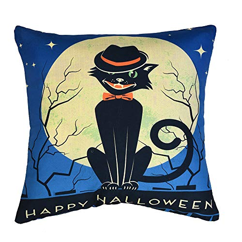 WFeieig_Halloween Cozy Velvet Rectangle Decorative Throw Pillow Covers for Couch and Bed, Blue]()
