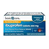 Basic Care Ibuprofen Tablets, 200 Count