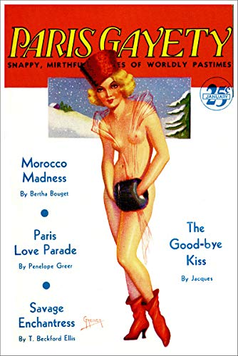 - January 1935 Paris Gayety Snappy Mirthful Stories of Worldly Pastimes Vintage Pulp Magazine Cover Retro Art Poster - 11x17