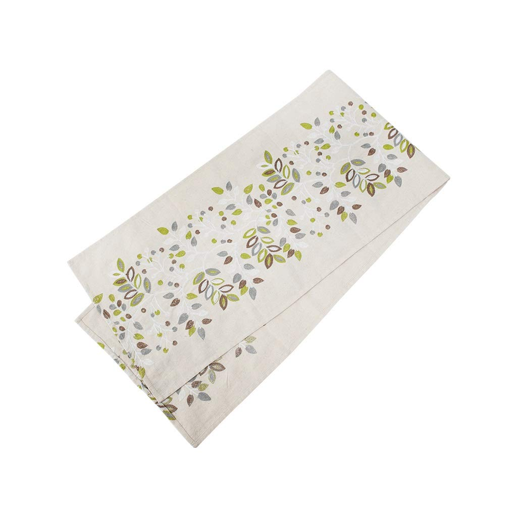LIGONG テーブルの旗コーヒーテーブルクロスの旗北欧綿と麻のシンプルでモダンなテレビキャビネットテーブルの旗ベッドの旗家の装飾刺繍 (色 : ベージュ, サイズ さいず : 35*220cm) 35*220cm ベージュ B07Q69M9S9